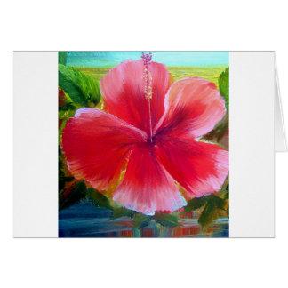 Hibiscus Flower Art Greeting Card