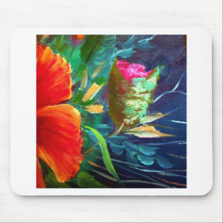 Hibiscus Flower Art Mouse Pad
