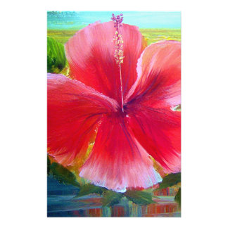 Hibiscus Flower Art Stationery