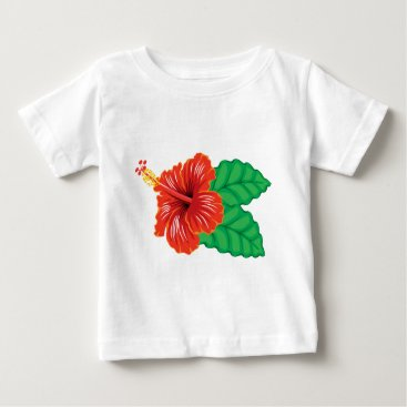 Beach Themed Hibiscus Flower Baby T-Shirt
