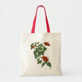 Hibiscus Flower Botanical Drawing Tote Bag
