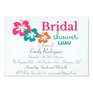 Hibiscus Flower Bridal Shower Luau Invitation