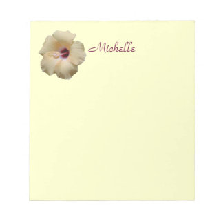 Hibiscus Flower Customize Your Name Notepad
