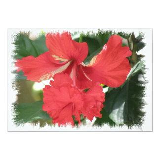 Hibiscus Flower Design Invitation