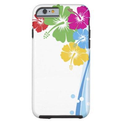 Hibiscus Flower Fashion Fine Floral Tough iPhone 6 Case