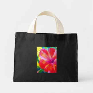 Hibiscus Flower Handbag Mini Tote Bag