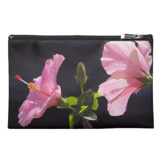 Hibiscus Flower in Profile Travel Accessories Bags