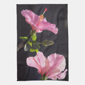 Hibiscus Flower in Profile Towel