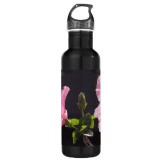 Hibiscus Flower in Profile Water Bottle