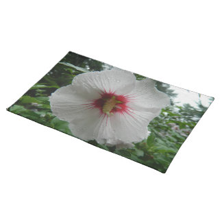 Hibiscus Flower in The Rain Placemat