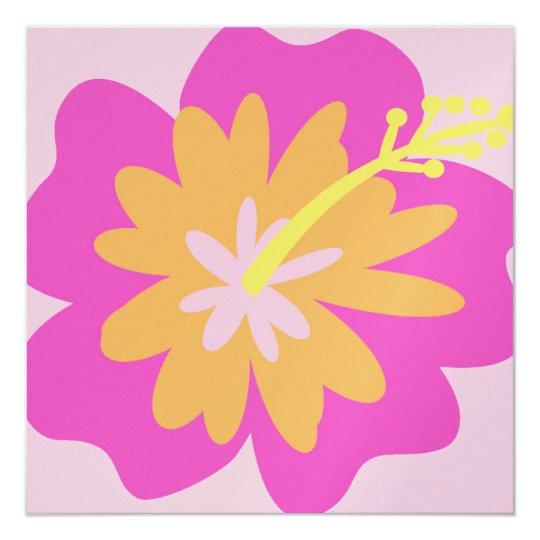 Hibiscus Flower Invitation