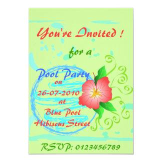 Hibiscus flower - Invitation card