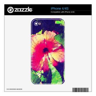 HIBISCUS FLOWER iPhone Skin iPhone 4S Skin
