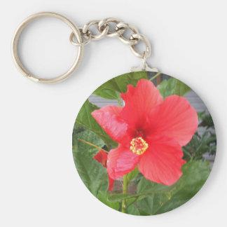 Hibiscus Flower Keychain