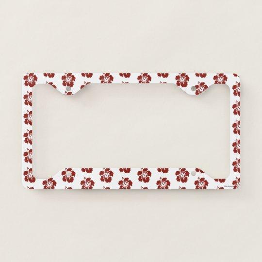 Hibiscus Flower License Plate Frame Zazzlecom