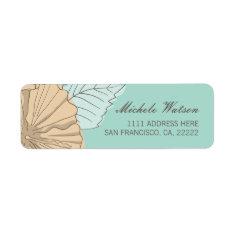 Hibiscus Flower Mint Return Address Labels