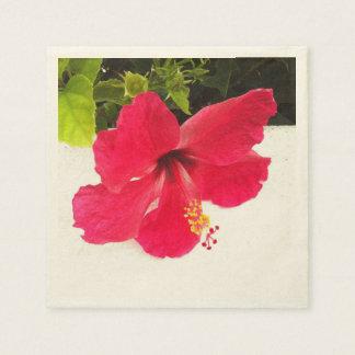 Hibiscus flower napkins
