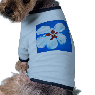 Hibiscus Flower Painting Dog T Shirt
