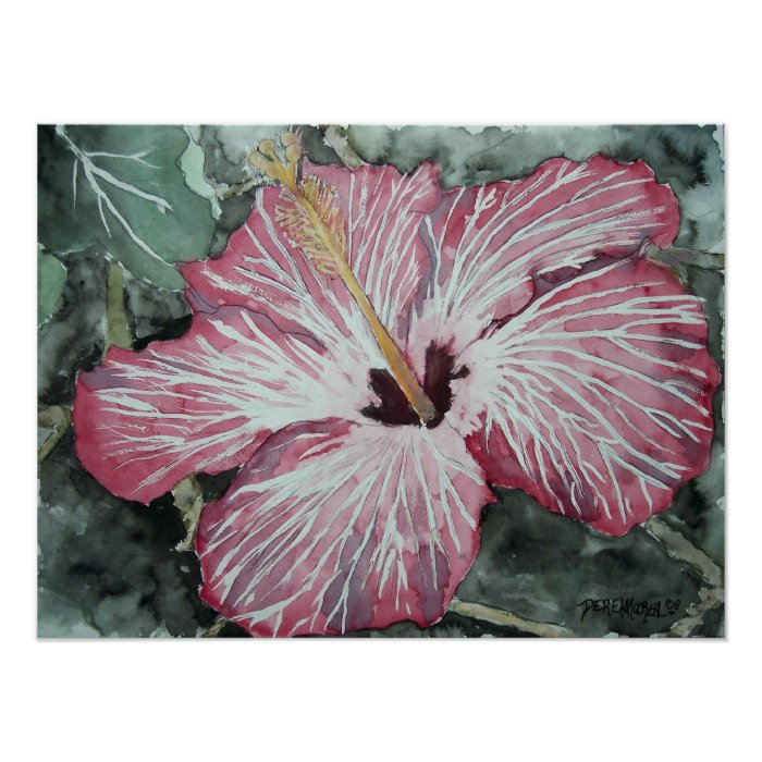 hibiscus_flower_painting poster