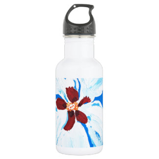 Hibiscus Flower Painting Stainless Steel Water Bottle