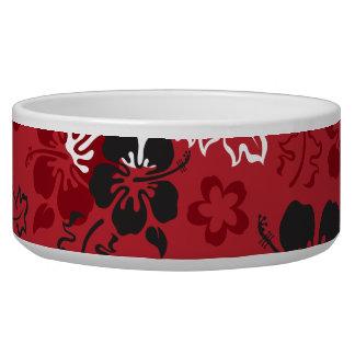 Hibiscus Flower Pattern Dog Pet Bowl