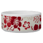 Hibiscus Flower Pattern Dog Pet Bowl Dog Bowls
