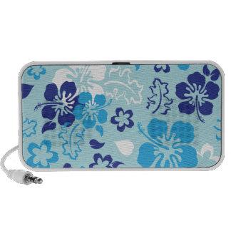 Hibiscus Flower Pattern Doodle MP3 Speaker
