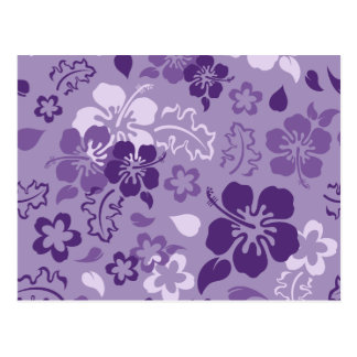 Hibiscus Flower Pattern Postcard