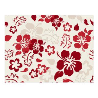 Hibiscus Flower Pattern Postcards