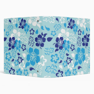 Hibiscus Flower Pattern School Binder