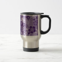 Hibiscus Flower Pattern Stainless Steel Travel Mug