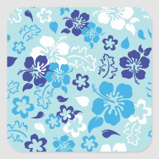 Hibiscus Flower Pattern Stickers