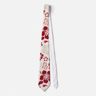 Hibiscus Flower Pattern Tie