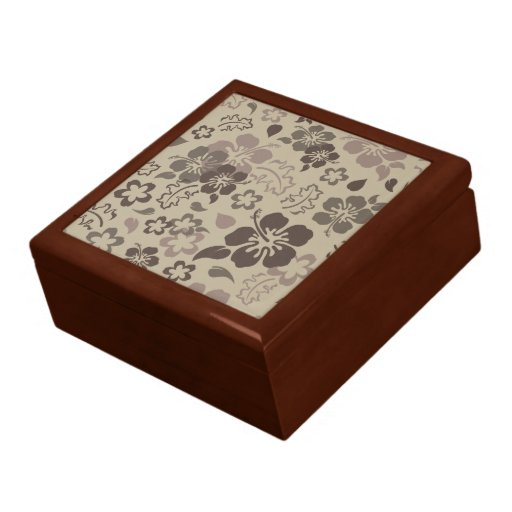 Hibiscus Flower Pattern Tile Gift Box