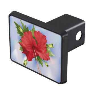 Hibiscus Flower Trailer Hitch Covers