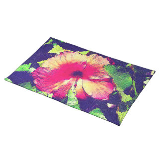 HIBISCUS FLOWER Place Mat Cloth Placemat