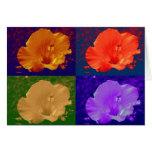 Hibiscus Flower Pop Art Cards