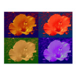 Hibiscus Flower Pop Art Postcards