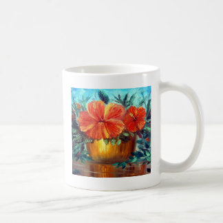 Hibiscus Flower Pot Art Coffee Mug
