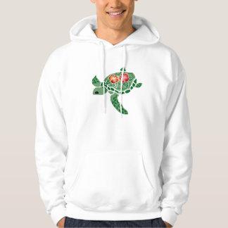 Hibiscus flower sea turtle Hooded sweatshirt