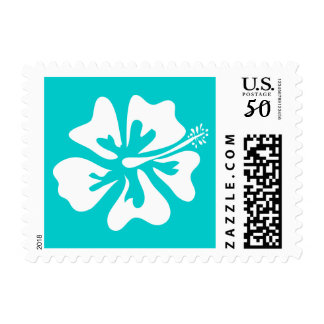 Hibiscus flower stamps for tropical beach wedding