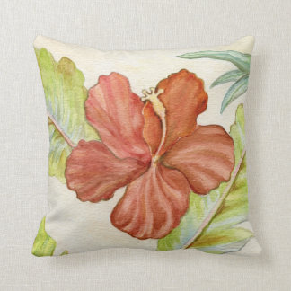 Hibiscus Flower Throw Pillow