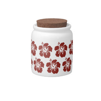 Hibiscus Flower Tropical Candy Jar