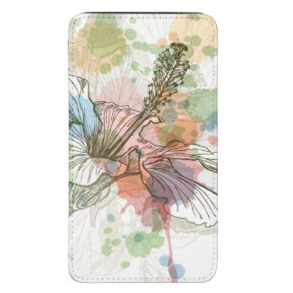 Hibiscus flower & watercolor background galaxy s5 pouch