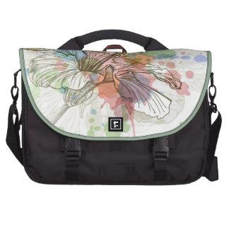 Hibiscus flower & watercolor background computer bag