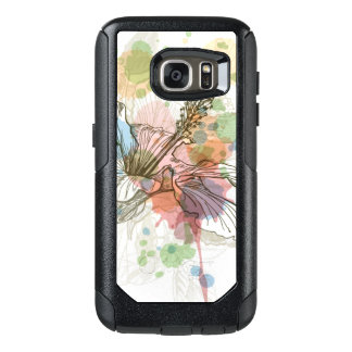 Hibiscus flower & watercolor background OtterBox samsung galaxy s7 case