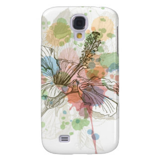 Hibiscus flower & watercolor background samsung s4 case