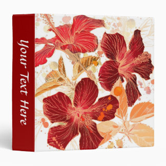 Hibiscus flower - watercolor paint 2 binder