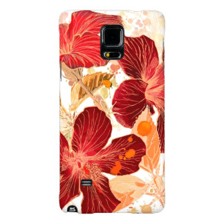 Hibiscus flower - watercolor paint 2 galaxy note 4 case