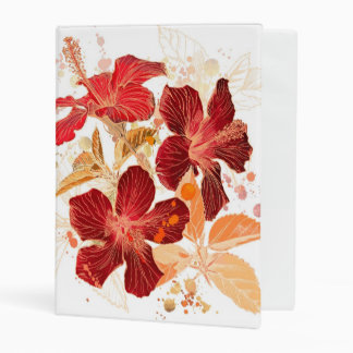 Hibiscus flower - watercolor paint 2 mini binder